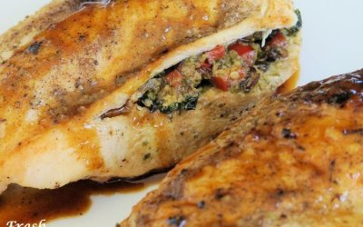 Pesto Veggie Stuffed Chicken