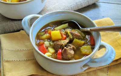 Moroccan Spiced Pumpkin-Lamb (or Pork) Stew