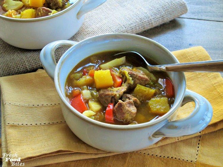 Moroccan Spiced Pumpkin-Lamb (or Pork) Stew