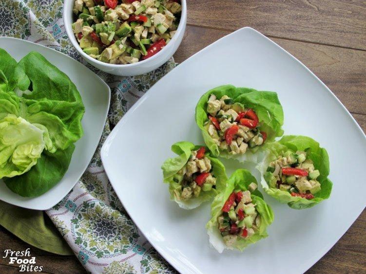 No Mayo Avocado Chicken Salad Fresh Food Bites