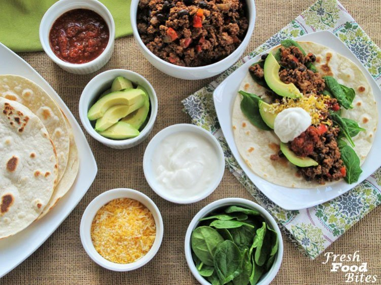 Whether you use this Healthy Taco Meat Recipe for tacos, enchiladas, quesadillas, or burritos, it will be a hit, and with the added black beans and veggies, you're getting an extra dose of nutrition that you don't normally find in taco meat. This taco meat has fiber and Vitamin C from the addition of black beans and vegetables, and compared to many taco meat recipes, the saturated fat is lower too.