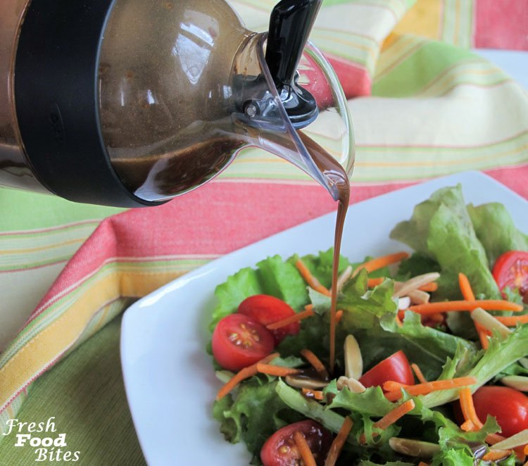If you're stuck with no bottled salad dressing or vinaigrette in the house, shake up a batch of your own Homemade Balsamic Vinaigrette. Once you learn the basics of making your own vinaigrette, you'll never want to go back to bottled dressing again! It tastes so much better and uses just a few ingredients you most likely have in your kitchen already. Give it a try and see for yourself!