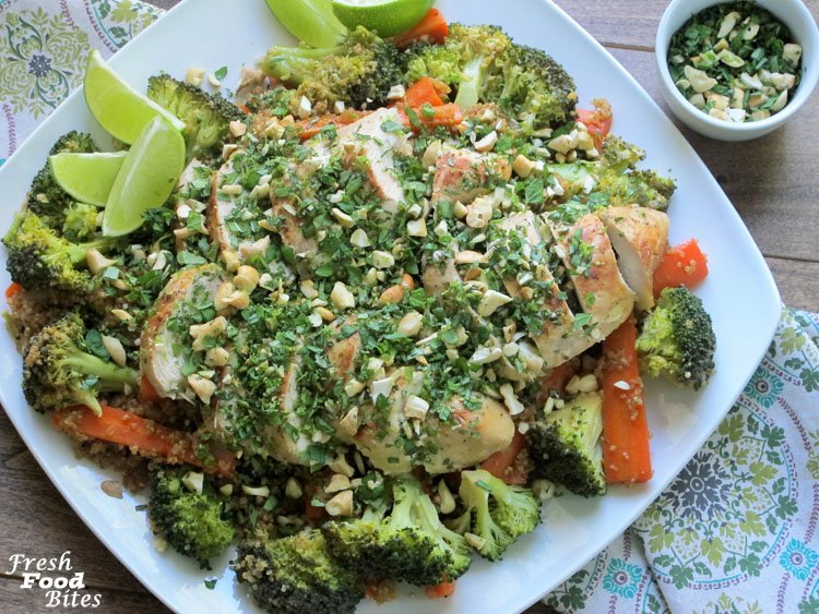 Instant Pot Sesame-Lime Chicken with Coconut Vegetable Quinoa
