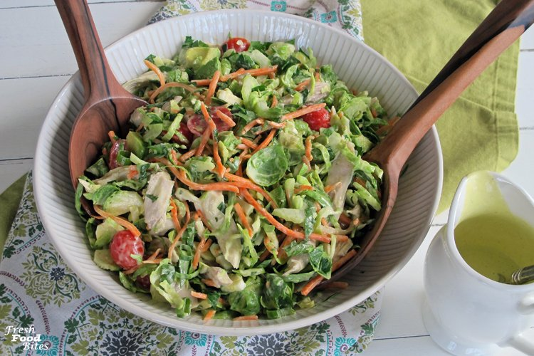 Fresh Brussels Sprouts and Turkey Chopped Salad