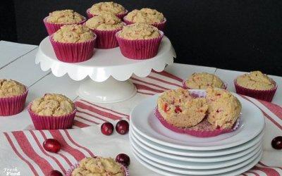 Gluten Free Cranberry Orange Oat Muffins