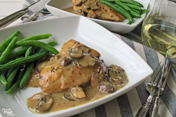 Give your next meal of chicken the royal treatment by making this easy, dairy free Chicken with Mushroom-Garlic Cream Sauce. Even though it's dairy free, the sauce is creamy, flavorful and satisfying thanks to the addition of a few flavorful ingredients. Plus, this recipe is cooked in one pan, making clean-up a snap.