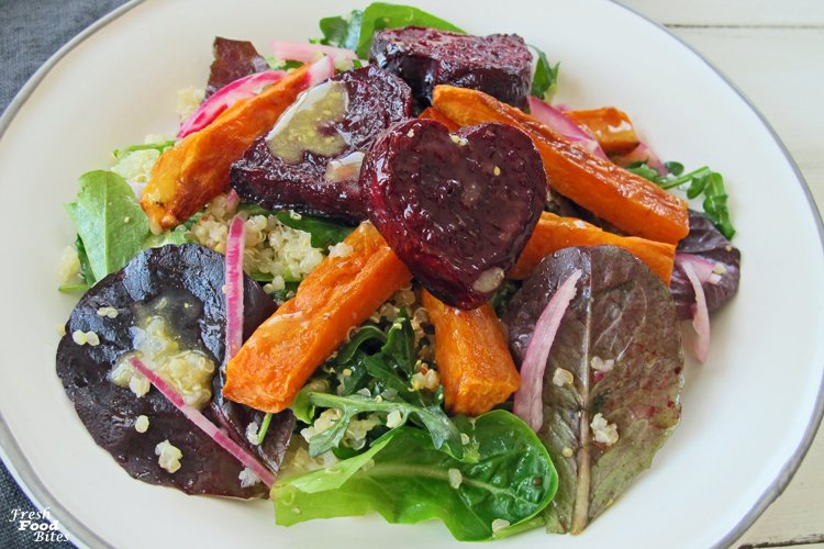 Roasted Beets and Sweets Quinoa Salad