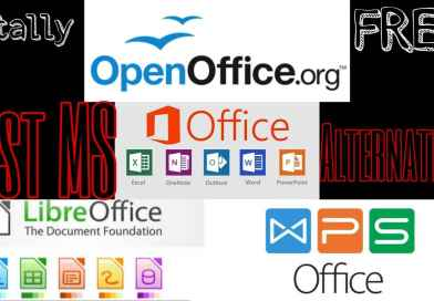what are best alternatives of Microsoft office suite for 2019, wps office, apache openoffice, libreoffice