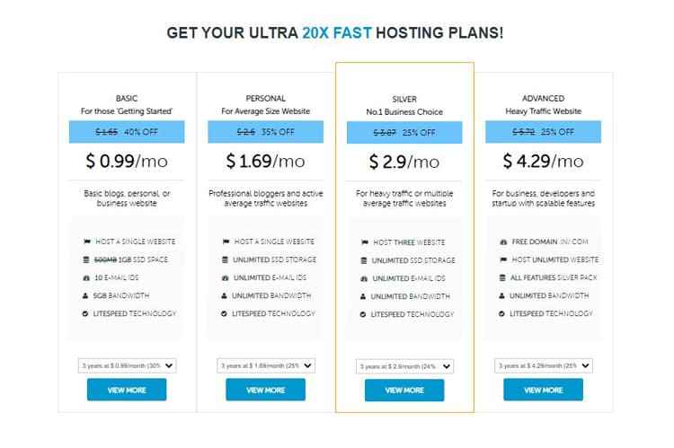 checkout the affordable web hosting plans of domainracer