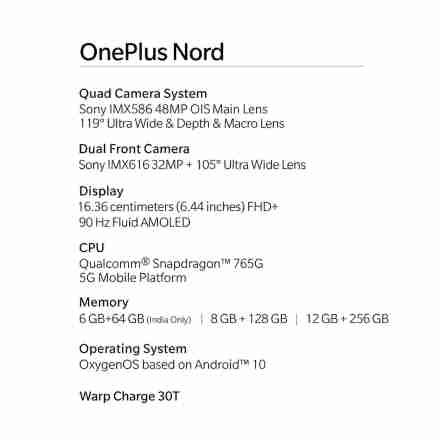 OnePlus Launched OnePlus Nord with Wireless Buds