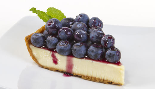 Blueberry Topped Cheesecake with Blueberry Sauce