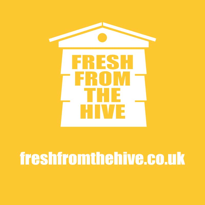 Orange fresh from the hive logo