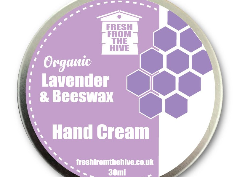 organic Lavender and beeswax hand cream