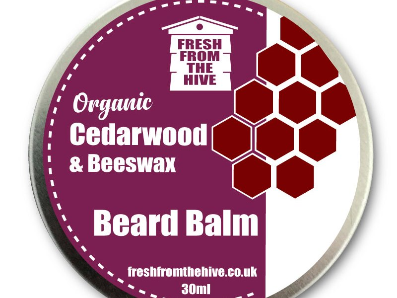 organic cedarwood beard balm
