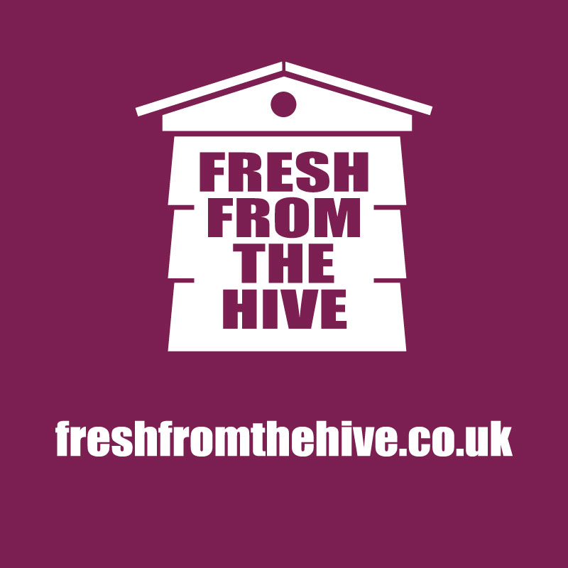 Maroon fresh from the hive logo