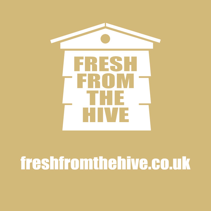 Beige fresh from the hive logo