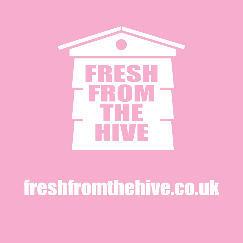 pink fresh from the hive logo