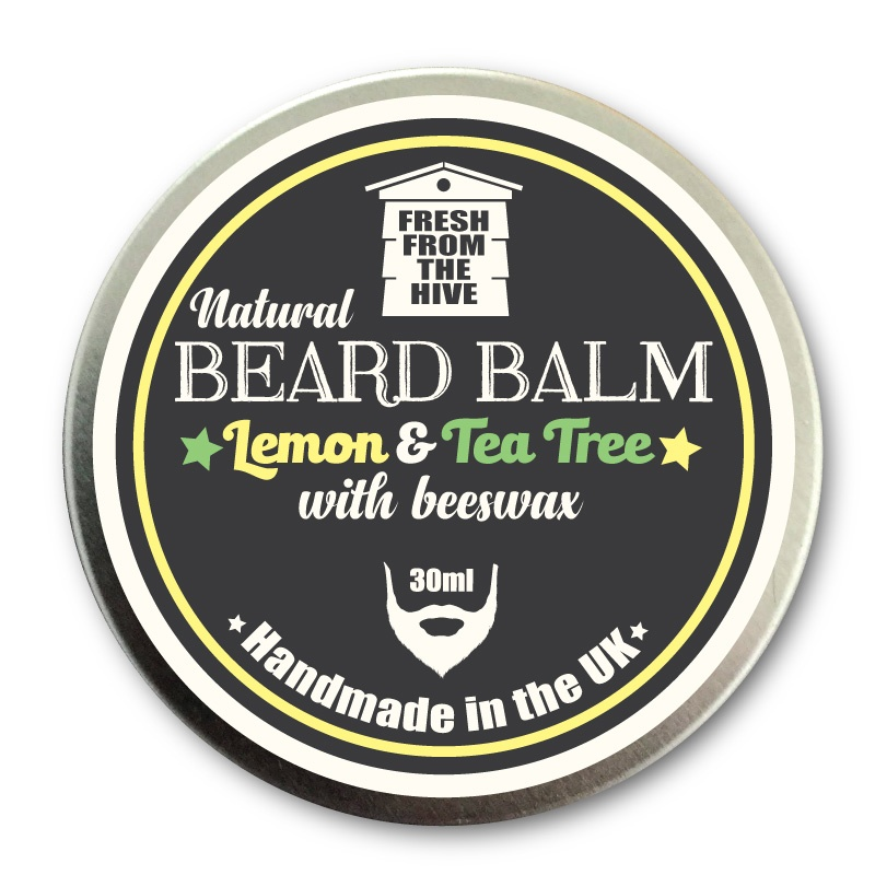 Lemon and tea tree natural beard balm