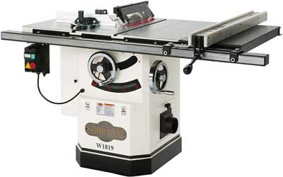 Shop Fox W1819 table saw