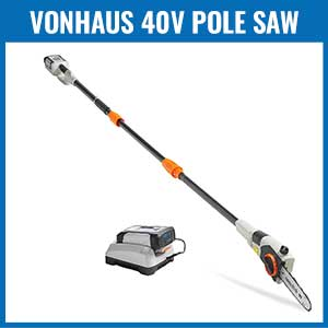 VonHaus 40V Max Cordless Pole Saw