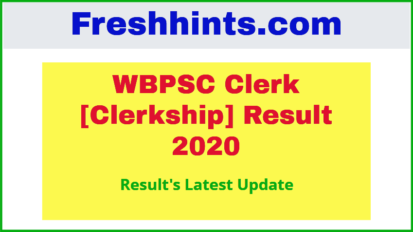wbpsc Clerkship Exam Results