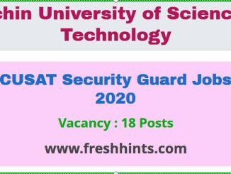 CUSAT Security Guard Jobs