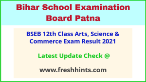 Bihar Board Inter Annual Exam Results 2021