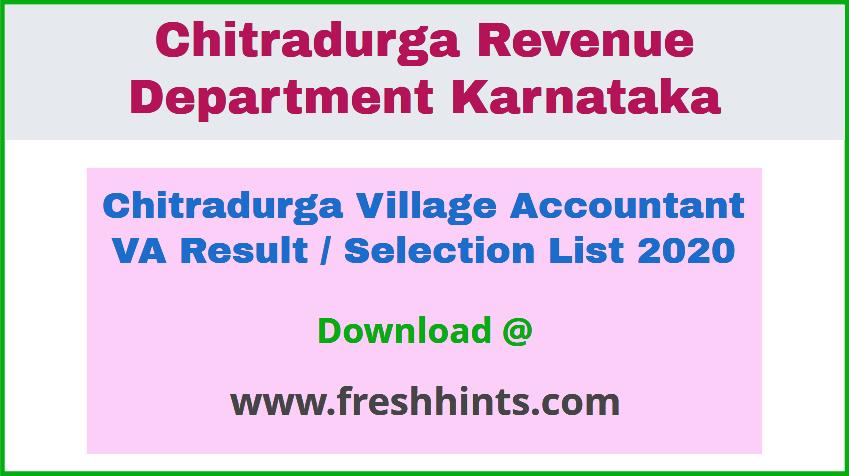 Chitradurga Village Accountant Result 2020