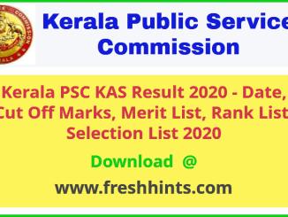 KPSC KAS Officer Results 2020