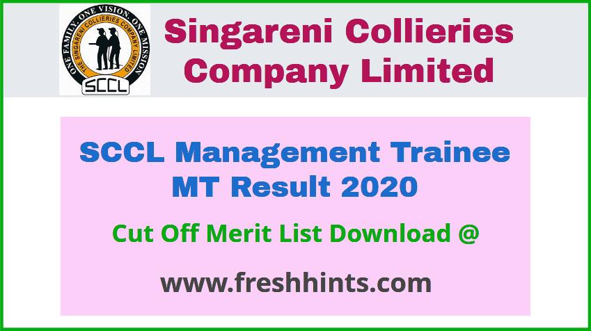 SCCL Management Trainee Result 2020