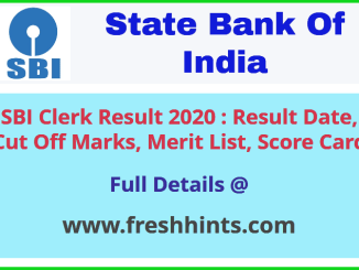 State Bank Of India Clerk Results 2020