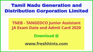 TANGEDCO Junior Assistant Hall Ticket 2020