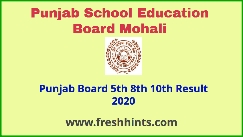 BSEB Fifth, Eight and Tenth Result 2020