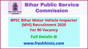 Bihar Motor Vehicle Inspector Recruitment 2020