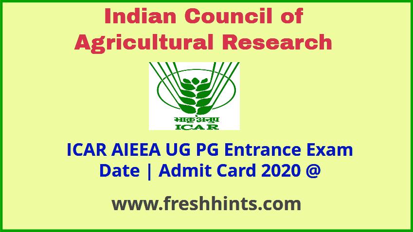 NTA AIEEA UG PG Admit Card 2020