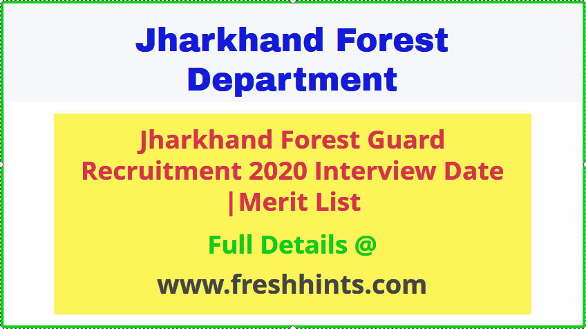 Jharkhand Forest Guard vacancy 2020