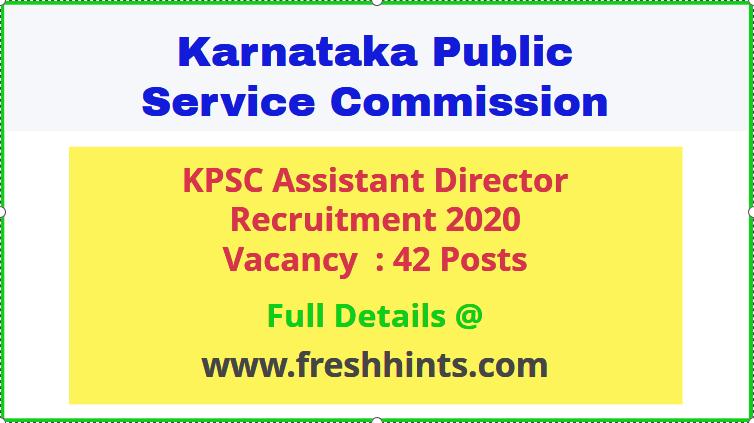 kpsc-assistant-director-recruitment