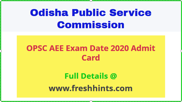 OPSC AAE Admit Card