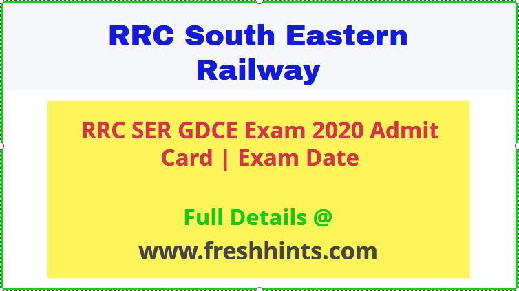 South Eastern Railway GDCE Admit Card