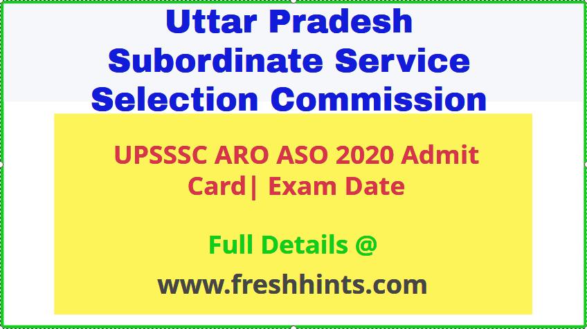 UPSSSC ARO Admit Card 2020