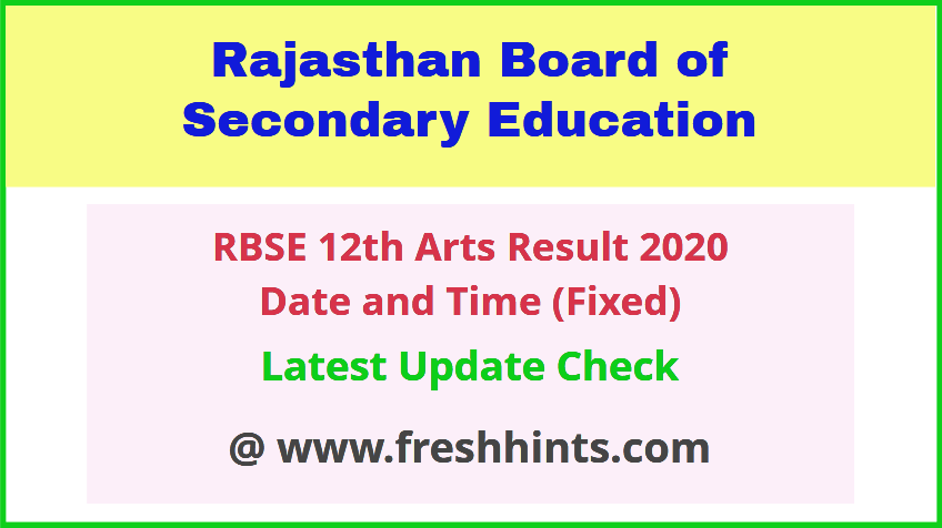 Ajmer Board 12th Class Arts Result Date and Time 2020 Declared