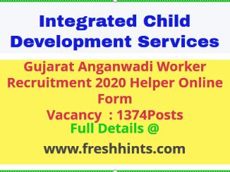 ICDS Anganwadi Worker Recruitment