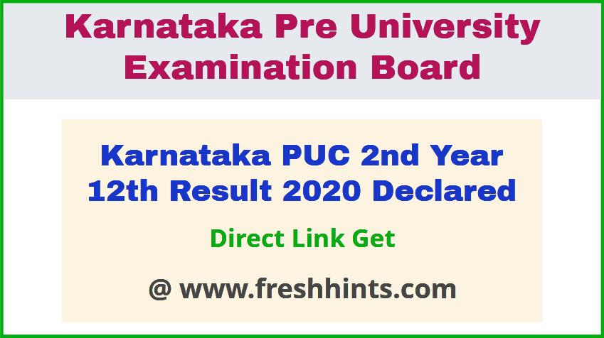 Karnataka Board HSC 12th Results 2020