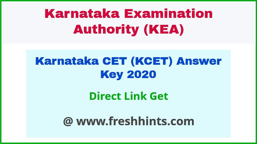 KCET Question Paper Solution Key 2020