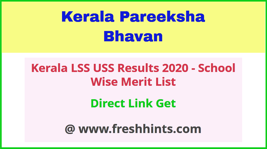 Kerala LSS USS Results 2020 Check Online