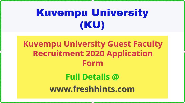 Kuvempu University Guest Lecturer Recruitment