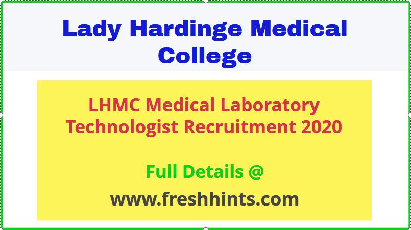 Lady Hardinge Medical College Vacancy