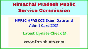 HP Administrative Services CCE Exam Hall Ticket 2021