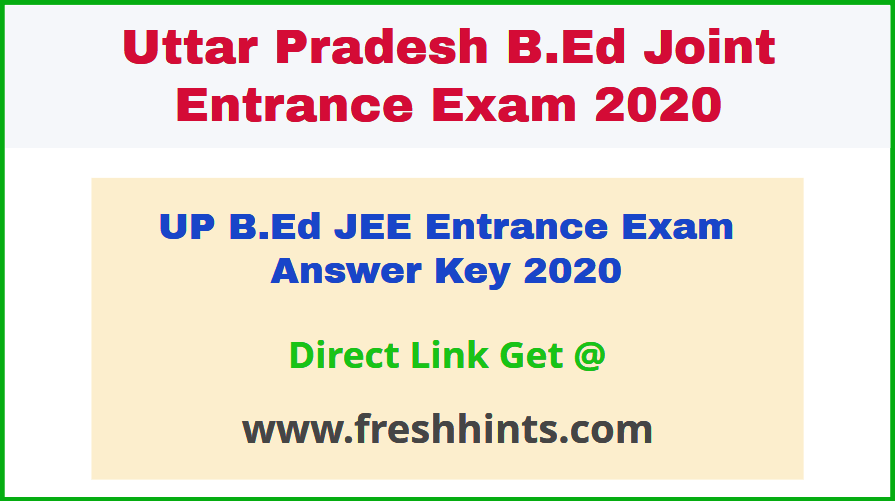 Lucknow University BEd Answer Key 2020