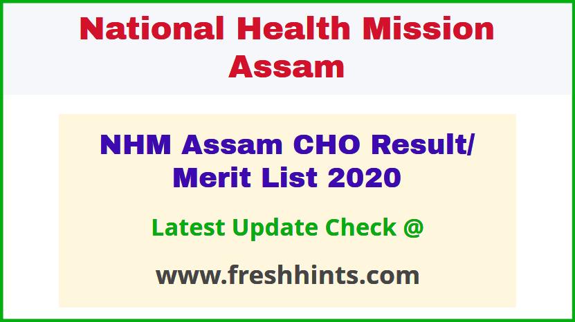 NHM Assam Certificate in Community Health Course Results 2020